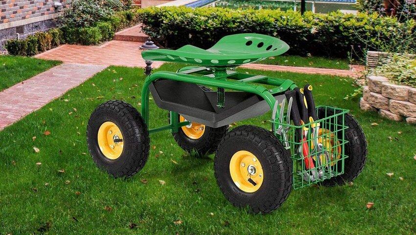 Benefits of using garden scooters during gardening